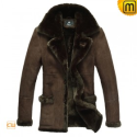 Leather Fur Lined Coat CW819139 - jackets.cwmalls.com