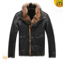 Fur Lined Leather Jacket CW819061 - jackets.cwmalls.com