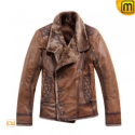 Shearling Leather Fur Jacket CW819056 - jackets.cwmalls.com