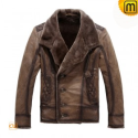 Fur Lined Leather Jacket CW819084 - jackets.cwmalls.com