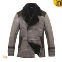 Fur Lined Leather Coat CW819167 - jackets.cwmalls.com