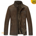 Fur Lined Leather Jacket CW833356- jackets.cwmalls.com