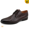 Brown Leather Oxford Shoes Men CW763008 - cwmalls.com