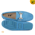 Tods Driving Shoes Blue CW713126 - cwmalls.com