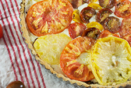 Caprese Tart with Olive Oil Crust
