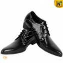 Black Leather Lace Up Oxford Dress Shoes CW760070