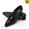 Black Leather Dress Shoes for Men CW762111