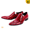 Mens Fashion Red Patent Leather Dress Shoes CW762053