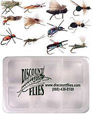 Terrestrial Dry Fly Collection - 12 Trout Flies + Fly Box