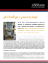 ¿Embalaje o packaging?