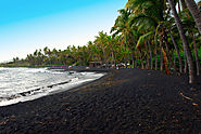 Go to a black sand beach