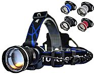 LED Headlamp Flashlight Bright 1000 Lumen Cree. Great for Running Hiking Camping Caving Hunting Bicycling. Water Resi...