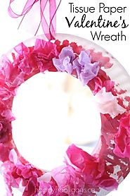 Paper Plate Valentine's Wreath - Happy Hooligans