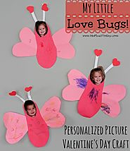 Personalized Love Bug Valentine's Day Craft