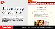 "Set up a blog on your site. Provide a ""behind the scenes look"" for readers by blogging once or twice a month. Fans wi..."