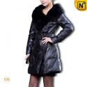 Women Fashion Leather Down Coat CW610009 - cwmalls.com