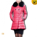 Women Rose Leather Down Coat CW610015 - cwmalls.com