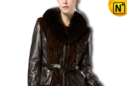 Women Black Sheepskin Jacket CW610032 - cwmalls.com