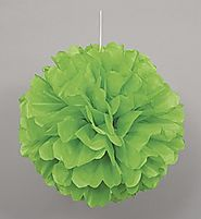 Green Puff Ball Decoration