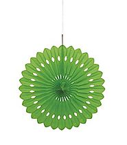Lime Green Paper Fan