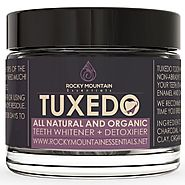 Rocky Mountain Essentials All Natural Charcoal Teeth Whitening, 'Tuxedo' Tooth and Gum Powder