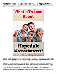 Real Estate Agents Hopedale Mass