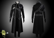 Sword Art Online Kirito Cosplay Costume + Wig