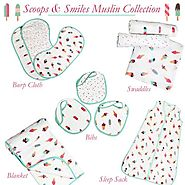 Buy Scoops & Smiles Muslin Swaddle Collection at Little West Street