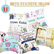 Shop the Birth Statistic Pillows Online At Little West Street