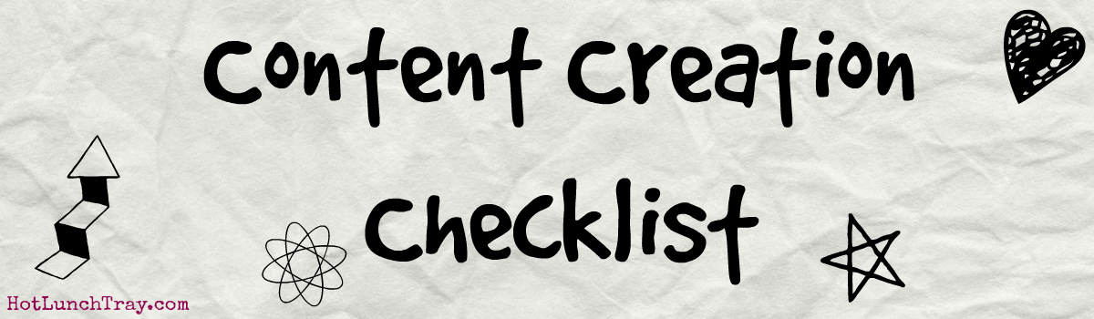 Headline for Content Creation Checklist