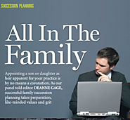 Keeping it in the family ............who takes over if your advisor is ill?  Forum Advocis Magazine