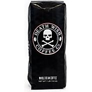 Death Wish Ground Coffee, The World's Strongest Coffee, Fair Trade and USDA Certified Organic - 16 Ounce Bag