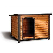 Precision Pet Outback Log Exterior Dog House