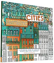 Coloring Books For Adults-Cities
