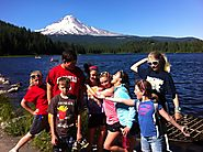 Family Camping On The Mount Hood