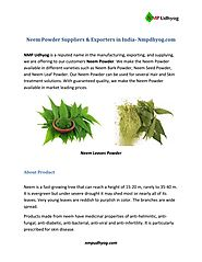 Neem powder suppliers & exporters in india nmp udhyog