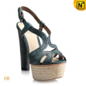 Platform Thick Heel Leather Sandals CW235612 - cwmalls.com