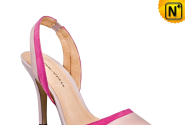 Pink Leather Sandals High Heels CW236307 - cwmalls.com
