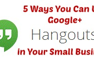 5 Ways Small Businesses Can Use Google+ Hangouts