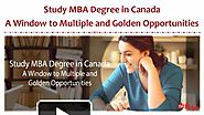 A Window to Multiple and Golden Opportunities - MBA Course