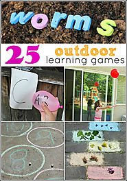 25 Outdoor Learning Games - Mess for Less