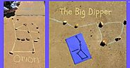 Constellation Art with downloadable cards.