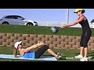 Simple Ab Exercise With a Medicine Ball & Your Partner