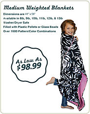 Sensory Goods offering Handmade Affordable Weighted Blankets including Organic Cotton and Glass Beads