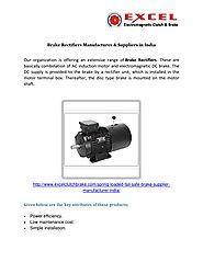 Brake rectifiers manufactures & suppliers in india