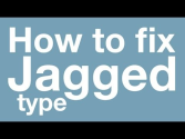Fix JAGGED TYPE in Adobe Photoshop