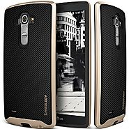 LG G4 Case, Caseology® [Envoy Series] Premium Leather Bumper Cover [Carbon Fiber Black] [Leather Bound] for G4 - Carb...
