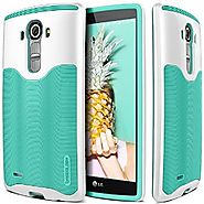 LG G4 Case, Caseology® [Wavelength Series] Textured Pattern Grip Cover [Turquoise Mint] [Shock Proof] for G4 - Turquo...
