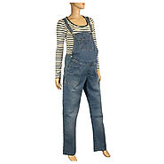 Buy Womens Maternity Denim Dungaree @ Price £34.97 UK