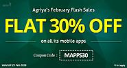 Grab a 30% discount on all Agriya's mobile app scripts till 25th February 2016